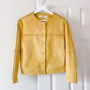 Brand new ZARA yellow mustard suede jacket